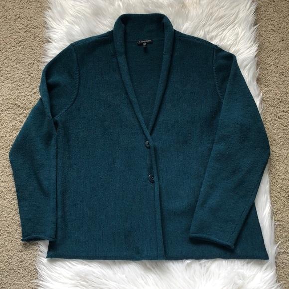 a9908f7fc5b Eileen Fisher Sweaters - Eileen Fisher Merino Wool Sweater Button Cardigan
